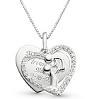 Sterling Mother & Baby Heart Necklace