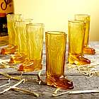 Cowboy Up Amber Shot Glasses