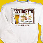 Beer Service Personalized Sweatshirt
