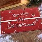Winter Wonderland Personalized Holiday Doormat