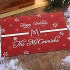 Winter Wonderland Personalized Holiday Doormat