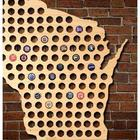 Giant XL Wisconsin Beer Cap Map