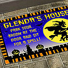 Personalized Halloween Witch Doormat