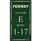 Fenway Park Section E Sign