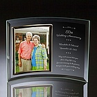 50th Wedding Anniversary Curved Glass Vertical Photo Frame