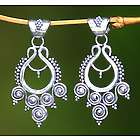 Goddess Coils Sterling Silver Dangle Earrings