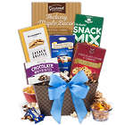 Cheese Biscuits and Trail Mix Gift Basket