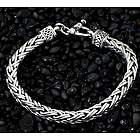 Men's Passion Sterling Silver Braided Bracelet