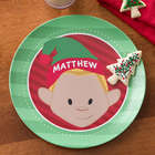Christmas Character Personalized Kid's Melamine Plate