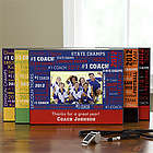 Personalized Sports Coach Picture Frame