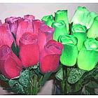 Dozen Large Wooden Rose Bud Bouquet