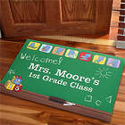 Personalized Little Learners Teacher's Classroom Doormat