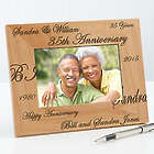 Forever and Always Engraved Wood 4x6 Anniversary Picture Frame