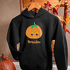 Personalized Boy's Halloween Pumpkin Sweatshirt