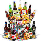 Beer and Gourmet Snacks Gift Basket