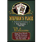 Personalized Poker Night Bar Sign
