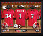 Personalized Georgia Bulldog Football Locker Room Print