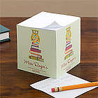 Wise Owl Personalized Teacher Note Pad Cube