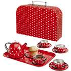 Polka Dot Tin Tea Set