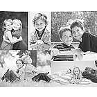 Personalized Black and White Photo Collage Canvas Wall Art