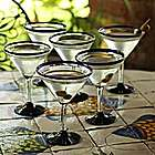 Cobalt Joy Martini Glasses