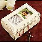 Personalized Communion Ivory Music Box