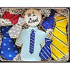 Tie Decorated Sugar Cookies