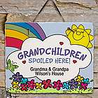 Personalized Grandchildren Spoiled Here Slate Plaque