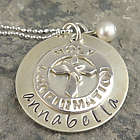 Holy Confirmation Personalized Hand Stamped Necklace
