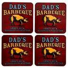 Personalized Smokin' Hot BBQ Coasters