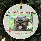 Personalized Ceramic Dog Photo Ornament