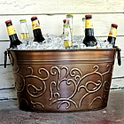 Bronzed Vine Beverage Tub