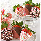 6 Pretty in Pink Chocolate Dipped Strawberries