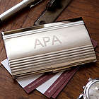 Modern Executive Monogrammed Card Case