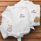 His & Hers Personalized Velour Spa Robe Set