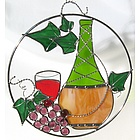 Stained Glass Wine Bottle Suncatcher Ring