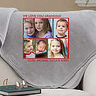Picture Perfect 5 Photo Personalized Sweatshirt Blanket