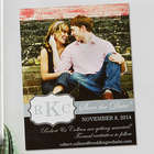 Custom Photo Monogrammed Save the Date Magnet