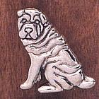 Handcrafted Shar-Pei Pin