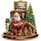 Illuminated Santa Figurine with Thomas Kinkade Narration