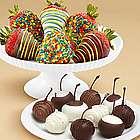Chocolate Covered Cherries and Half Dozen Birthday Strawberries