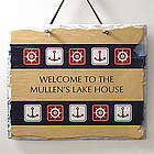 Nautical Welcome� Personalized Slate Plaque