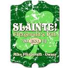 Vintage Personalized Jolly Green Clover Pub Sign