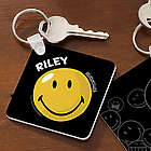 Smiley Face Personalized Key Ring