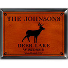 Personalized Cabin Pub Sign with Stag Design