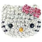 Cute Crystal Kitty Adjustable Ring