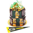 Green Bay Fan Candy Bar Cake