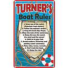 Personalized Boat Rules 8x14 Metal Sign