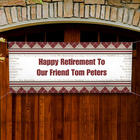 Happy Retirement Personalized Non-Photo Banner