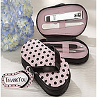 Five Piece Pedicure Set with Matching Thank You Tag